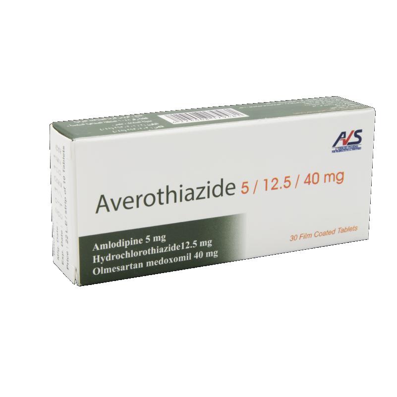 Averothiazide 5/12.5/40 mg